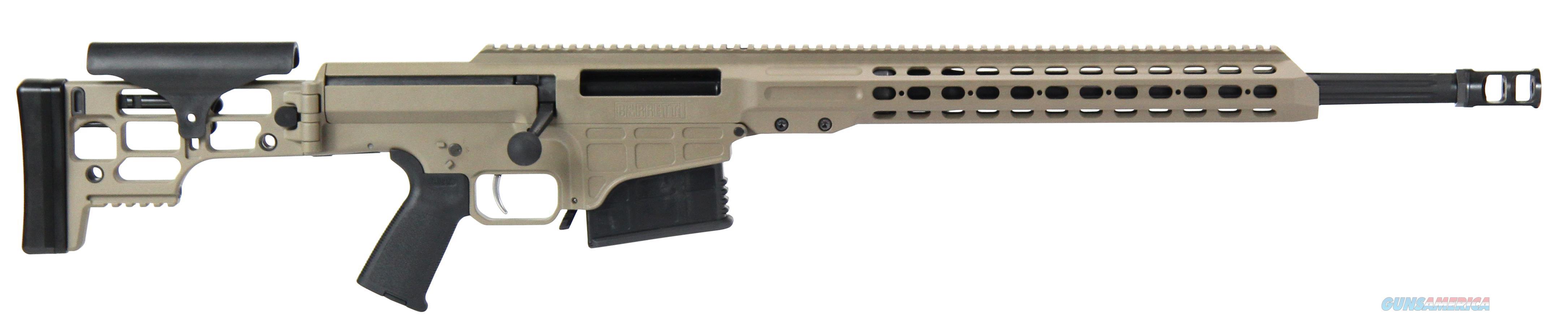"""Barrett 14364 Mrad 308 Winchester 22"""" 10+1 Folding Flat Dark Earth Stk Fde/Blk 14364  Guns > Rifles > Barrett Rifles"""