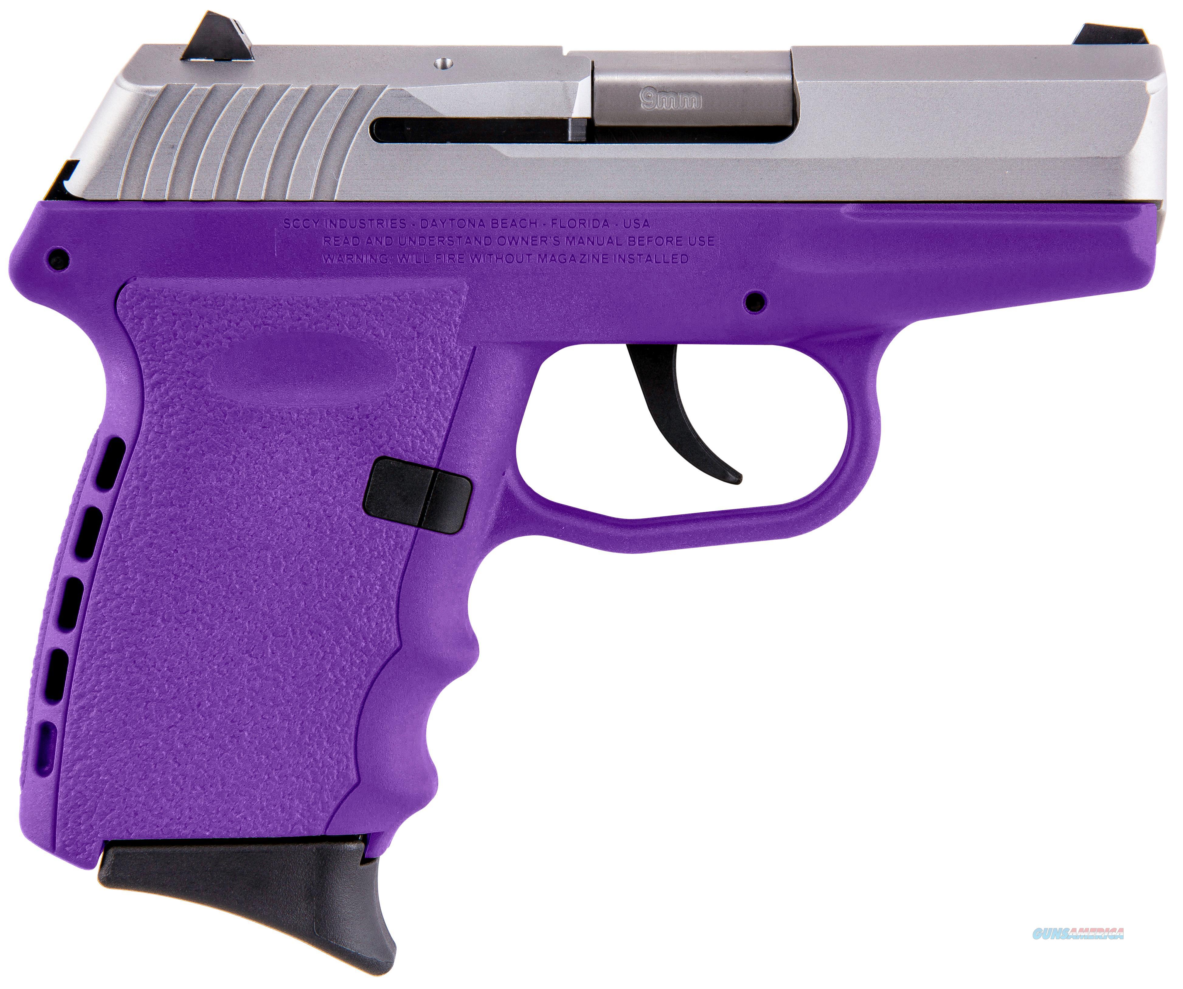 Sccy Industries Cpx-2 9Mm 3.1 10Rd Duo Tone Purple No Safet CPX2-TTPU  Guns > Pistols > S Misc Pistols