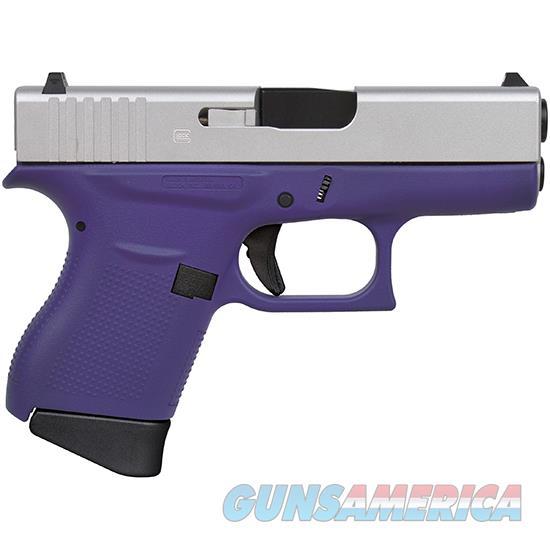 Glock 43 9Mm 3.39 Fs 6R Cerakote Purple/Aluminum PI4350201BPSA  Guns > Pistols > G Misc Pistols