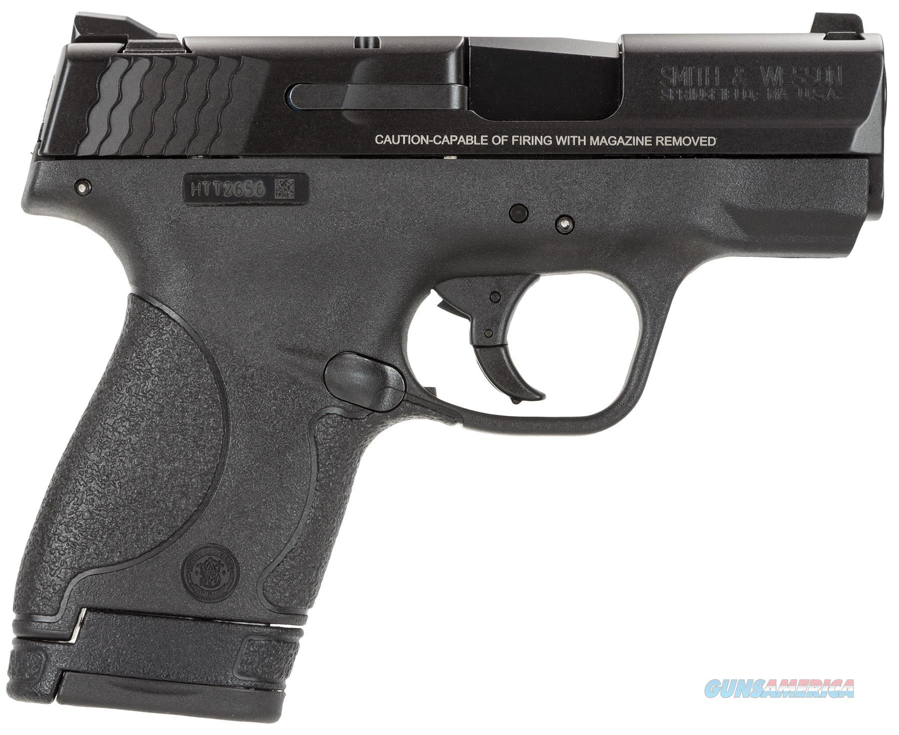 "Smith & Wesson 10034 M&P 40 Shield Double 40 Smith & Wesson (S&W) 3.1"" 6+1/7+1 (Grip Extension) Black Polymer Grip/Frame Grip Black Stainless Steel 10034  Guns > Pistols > S Misc Pistols"