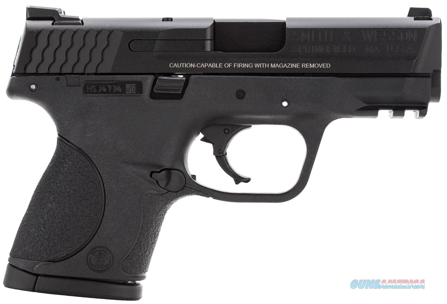 """Smith & Wesson 109303 M&P 40 Compact 40 Smith & Wesson (S&W) Double 3.5"""" 10+1 Nms Black Interchangeable Backstrap Black Polymer Frame Black Armornite Stainless Steel Slide 109303  Guns > Pistols > S Misc Pistols"""