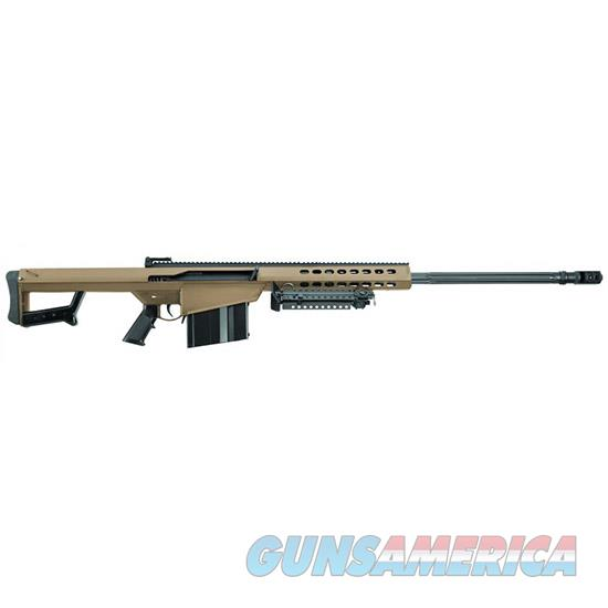 "Barrett 14031 M82 A1  Semi-Automatic 50 Browning Machine Gun (Bmg) 29"" 10+1 Fixed Flat Dark Earth Stk Flat Dark Earth Cerakote/Black 14031  Guns > Rifles > B Misc Rifles"