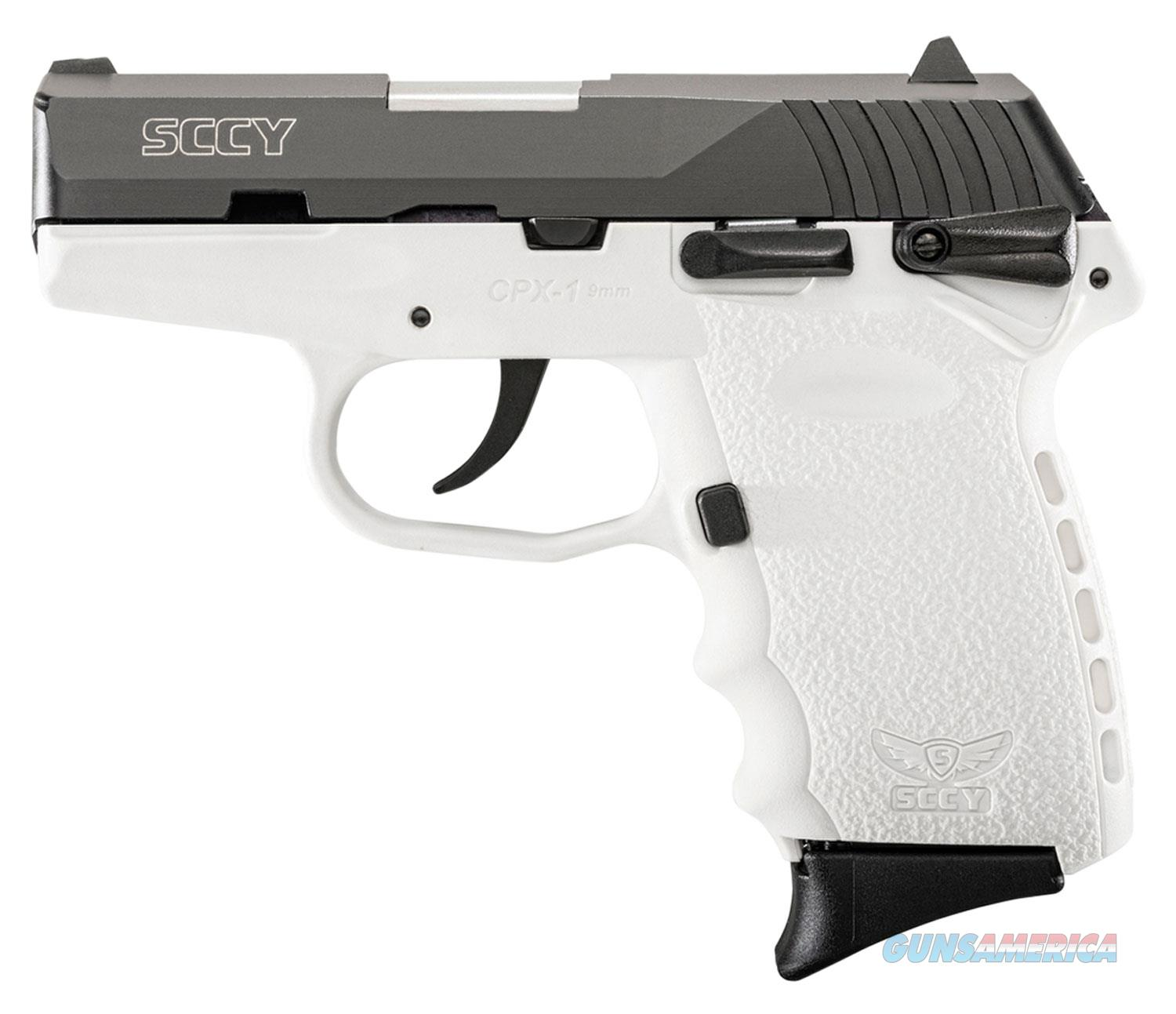 "Sccy Industries Cpx1cbwt Cpx-1 Carbon  9Mm Luger Double 3.1"" 10+1 White Polymer Grip/Frame Grip Black Nitride Stainless Steel Slide CPX1-CBWT  Guns > Pistols > S Misc Pistols"