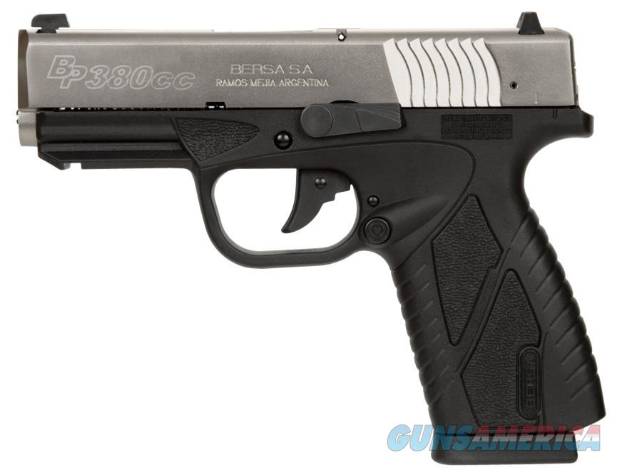 "Bersa Bp380dtcc Bpcc Concealed Carry Double 380 Automatic Colt Pistol (Acp) 3.3"" 8+1 Black Polymer Grip Nickel BP380DTCC  Guns > Pistols > Bersa Pistols"