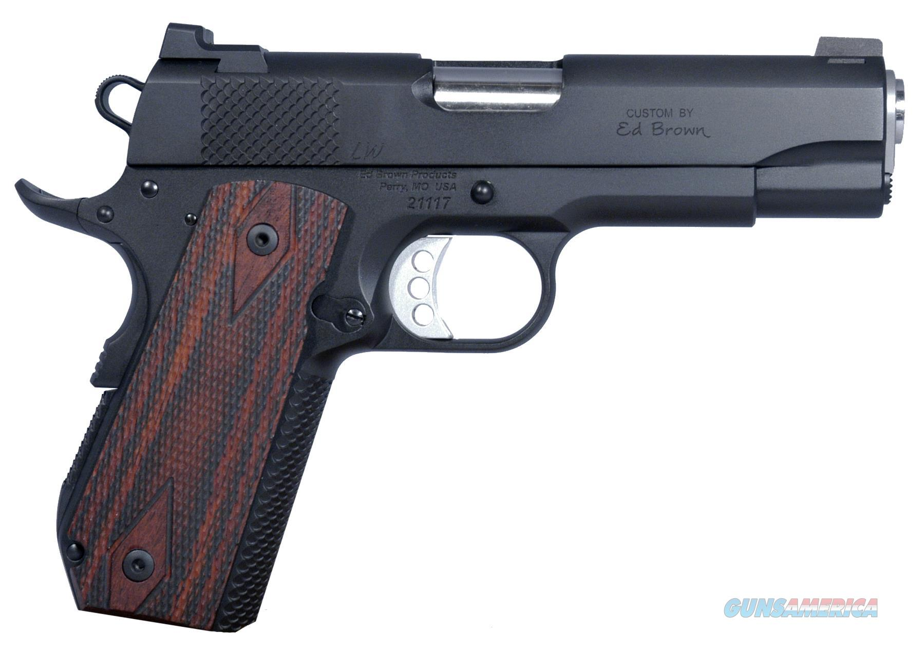 "Ed Brown Kclwg4 Kobra Carry Gen4 Soa 45 Acp 4.25"" 7+1 Laminate Wood Grip Blk Gen4 KCLWG4  Guns > Pistols > E Misc Pistols"