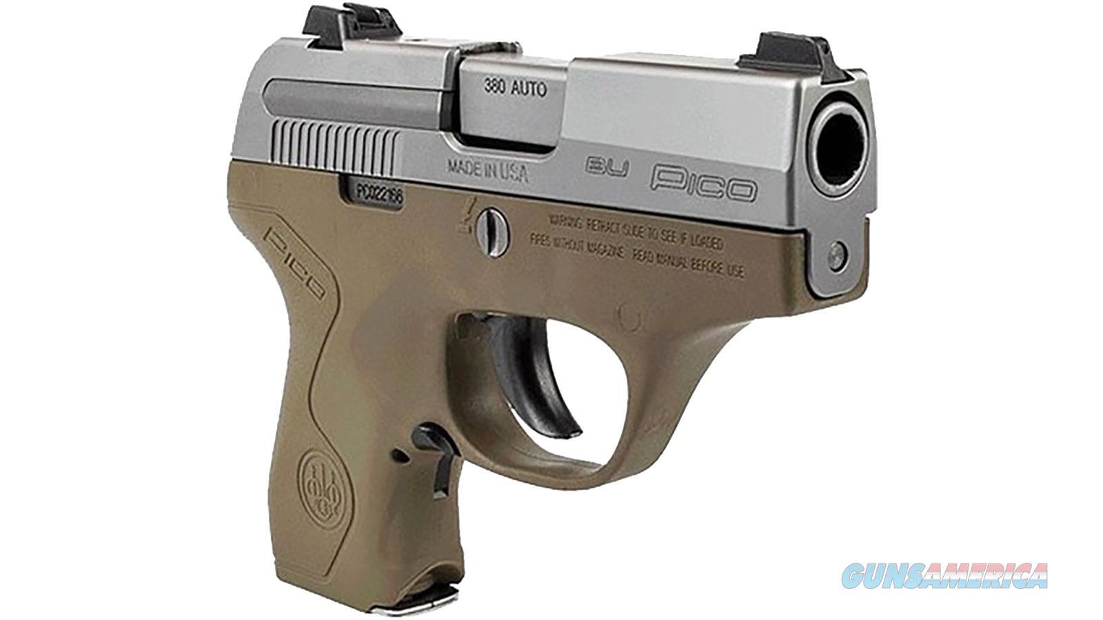 Beretta Pico Inox 380 Acp Fde 6 Rd JMP8D55  Guns > Pistols > B Misc Pistols