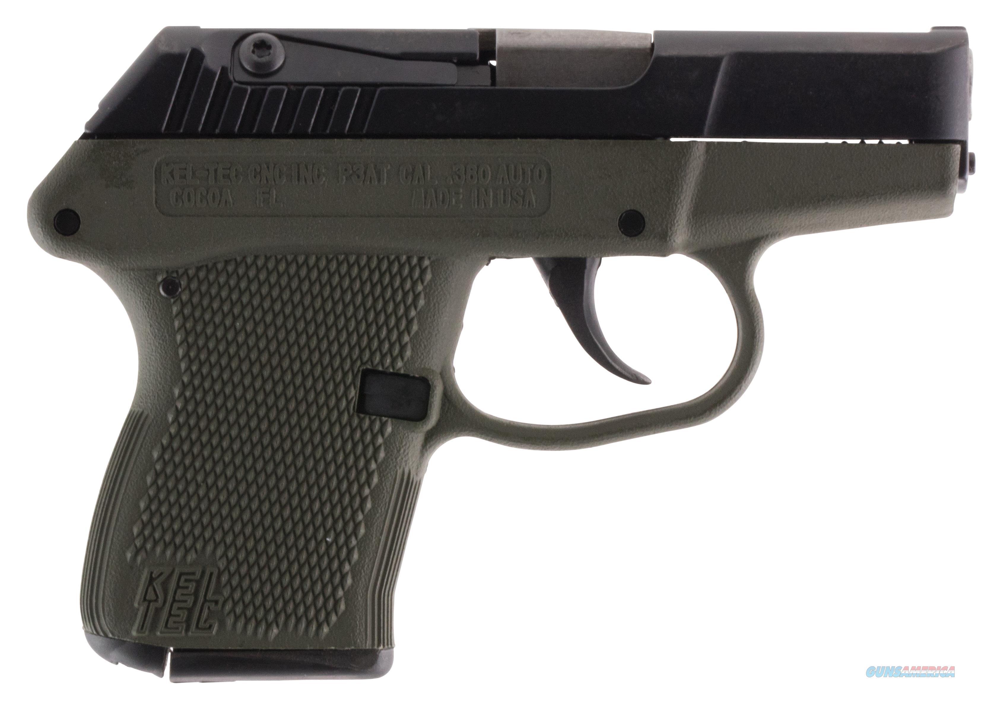 "Kel-Tec P3atbgrn P-3At 380 Acp Double 380 Automatic Colt Pistol (Acp) 2.7"" 6+1 Green Polymer Grip Blued P3ATBGRN  Guns > Pistols > K Misc Pistols"