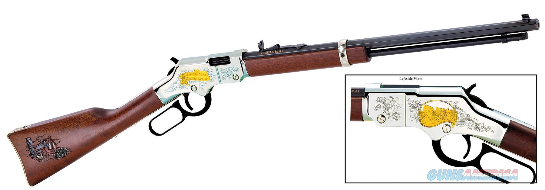 "Henry American Farmer Tribute .22S/L/Lr 20"" Octagon Engraved H004AF  Guns > Rifles > H Misc Rifles"
