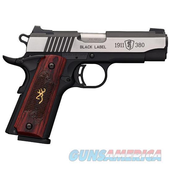 Browning 1911-380 380Acp Blk Label Medallion Pro Comp 051913492  Guns > Pistols > B Misc Pistols