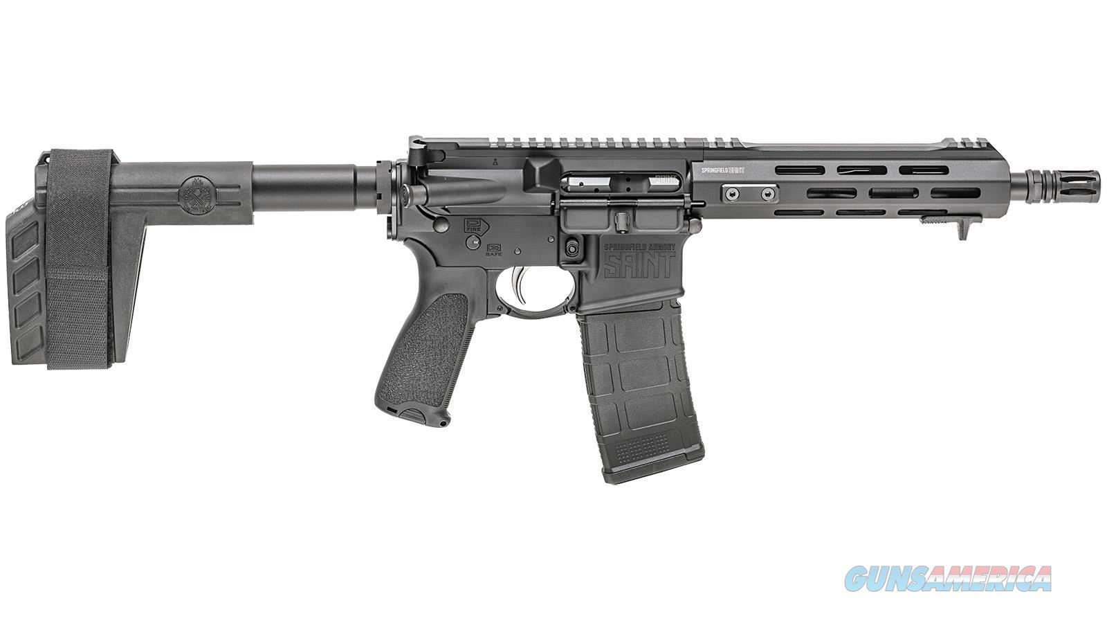 Springfield Armory Saint Pistol 300Blk 9 Sb Tactical Brace ST909300B  Guns > Pistols > S Misc Pistols