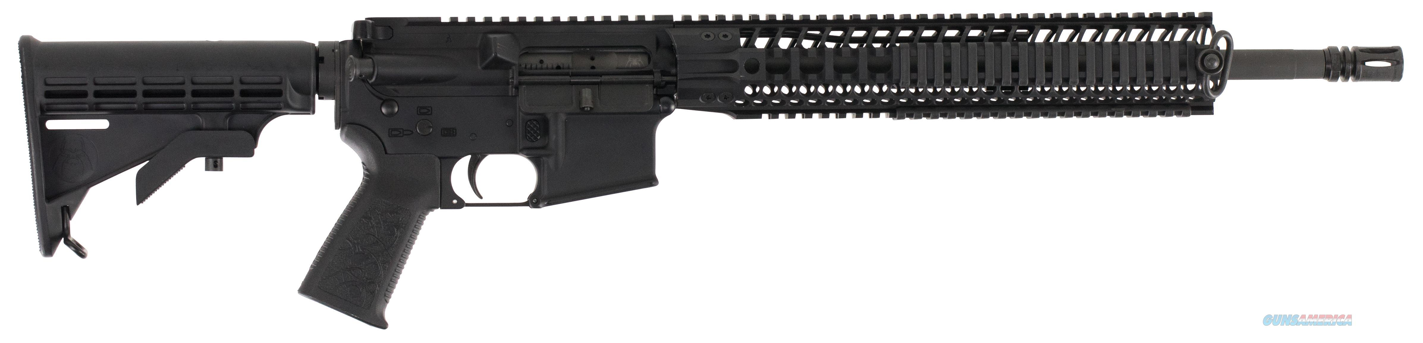 "Spikes Str5025r2s St-15 Le M4 Carbine With 12"" Bar2 Rail Semi-Automatic 223 Remington/5.56 Nato 16"" No Magazine 6-Position Black Stk Black Hard Coat Anodized STR5025-R2S  Guns > Rifles > S Misc Rifles"