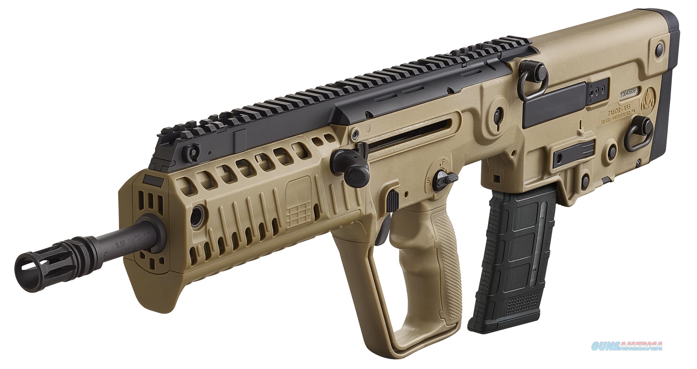 """Iwi Us Xfd16blk Tavor X95 Semi-Automatic 300 Aac Blackout/Whisper (7.62X35mm) 16.5"""" 30+1 Polymer Bullpup Fde Stk Black XFD16BLK  Guns > Rifles > IJ Misc Rifles"""