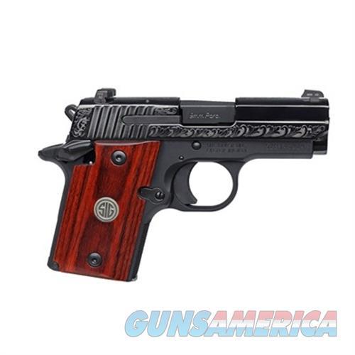 Sig Sauer P938 Engraved Polished Nitron 9Mm 938-9-ESR  Guns > Pistols > S Misc Pistols