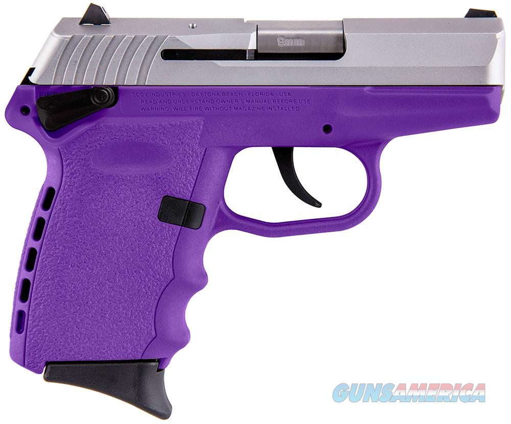Sccy Industries Cpx-1 9Mm 3.1 10Rd Purple Duo Tone Ambi Saf CPX1-TTPU  Guns > Pistols > S Misc Pistols