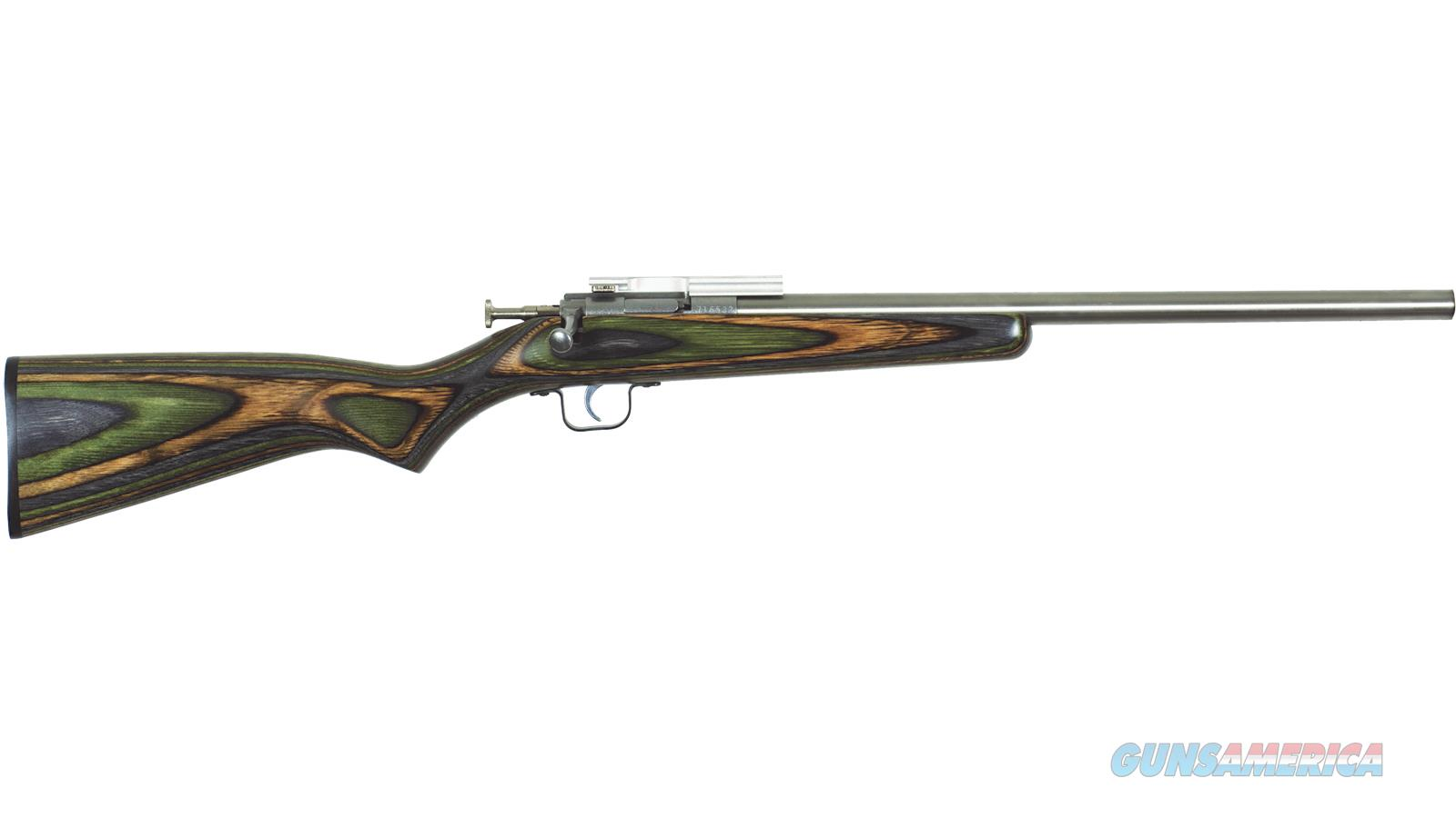 Keystone Sporting Arms Crickett Bolt Action Youth Rifle, 22 Lr, Single Shot, 1/2X28 Threaded Bull Barrel, Ez Loader, Mount, Camo Laminate, Ss Bbl KSA2132  Guns > Rifles > K Misc Rifles