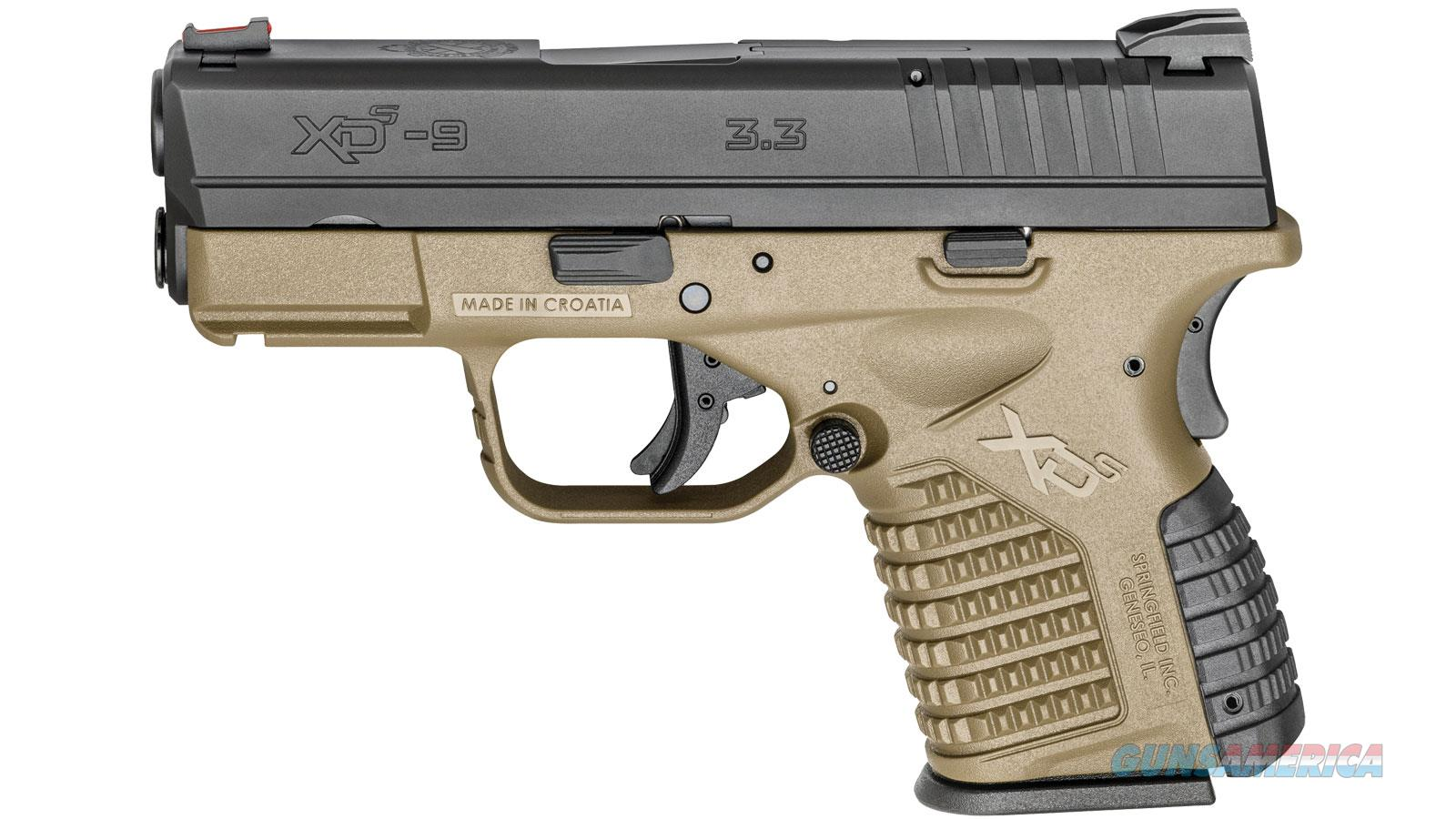 "SPRINGFIELD ARMORY XDS 9MM 3.3"" 7/8RD XDS9339DEE  Guns > Pistols > Springfield Armory Pistols > XD-S"