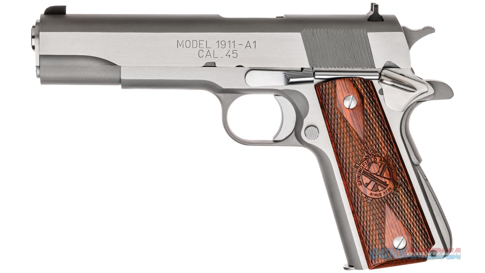 Springfield Armory 1911-A1 Mil-Spec 5 45Acp Ss Ca Legal PB9151LCA  Guns > Pistols > S Misc Pistols
