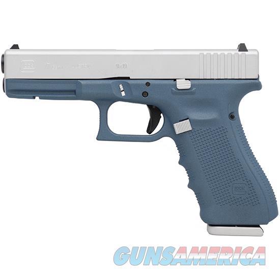 Glock 17 Gen4 9Mm 4.49 Titanium Blue Cerakote PG1750203TBSA  Guns > Pistols > G Misc Pistols