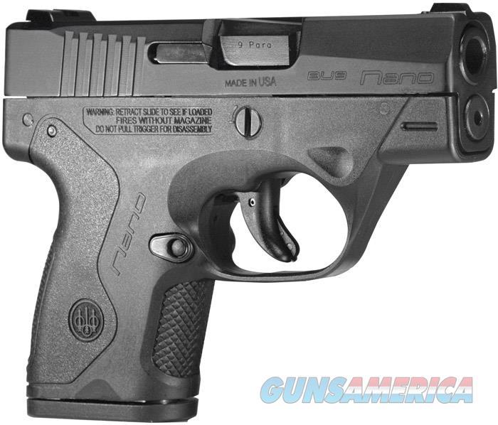 Beretta Nano 9Mm 6&8Rd Poly JMN9S15  Guns > Pistols > B Misc Pistols