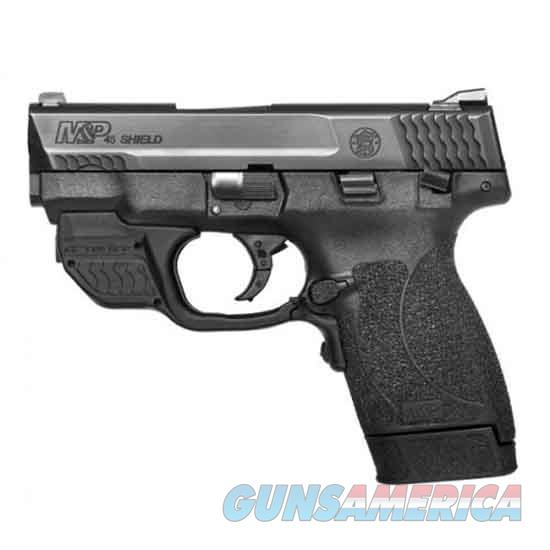 Smith & Wesson M&P45 Shield 45Acp 3.3 Blk Grn Ctc Laser 11881  Guns > Pistols > S Misc Pistols