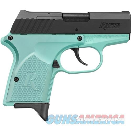 "Remington Rm380 .380Acp 2.9"" 6-Shot Light Blue Frame Black Slide 96453  Guns > Pistols > R Misc Pistols"