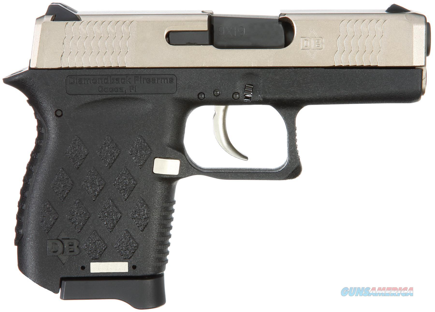 "Diamondback Db9ex Db9 Micro-Compact Double 9Mm Luger 3"" 6+1 Black Polymer Grip/Frame Grip Exo Nickel Boron DB9EX  Guns > Pistols > D Misc Pistols"