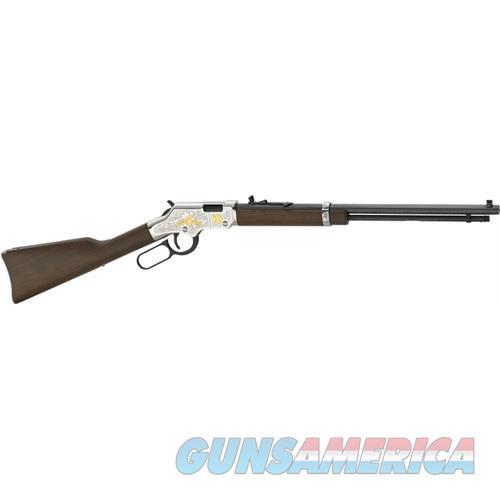 """Henry Second Amendment Tribute .22S/L/Lr 20"""" Octagon Engraved H004SAT  Guns > Rifles > H Misc Rifles"""