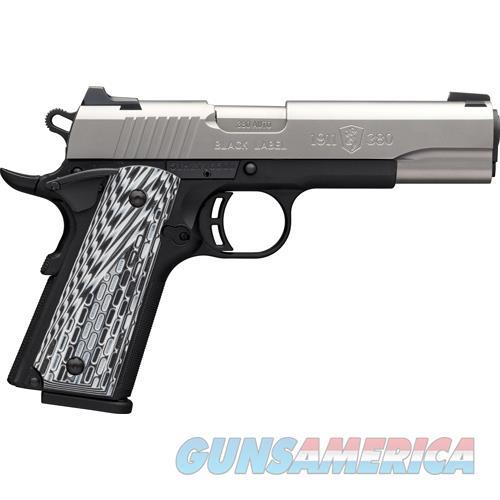 "Browning Black Label Pro 1911-380 .380 4.25"" 3-Dot 8-Sh S/S G10 051922492  Guns > Pistols > B Misc Pistols"