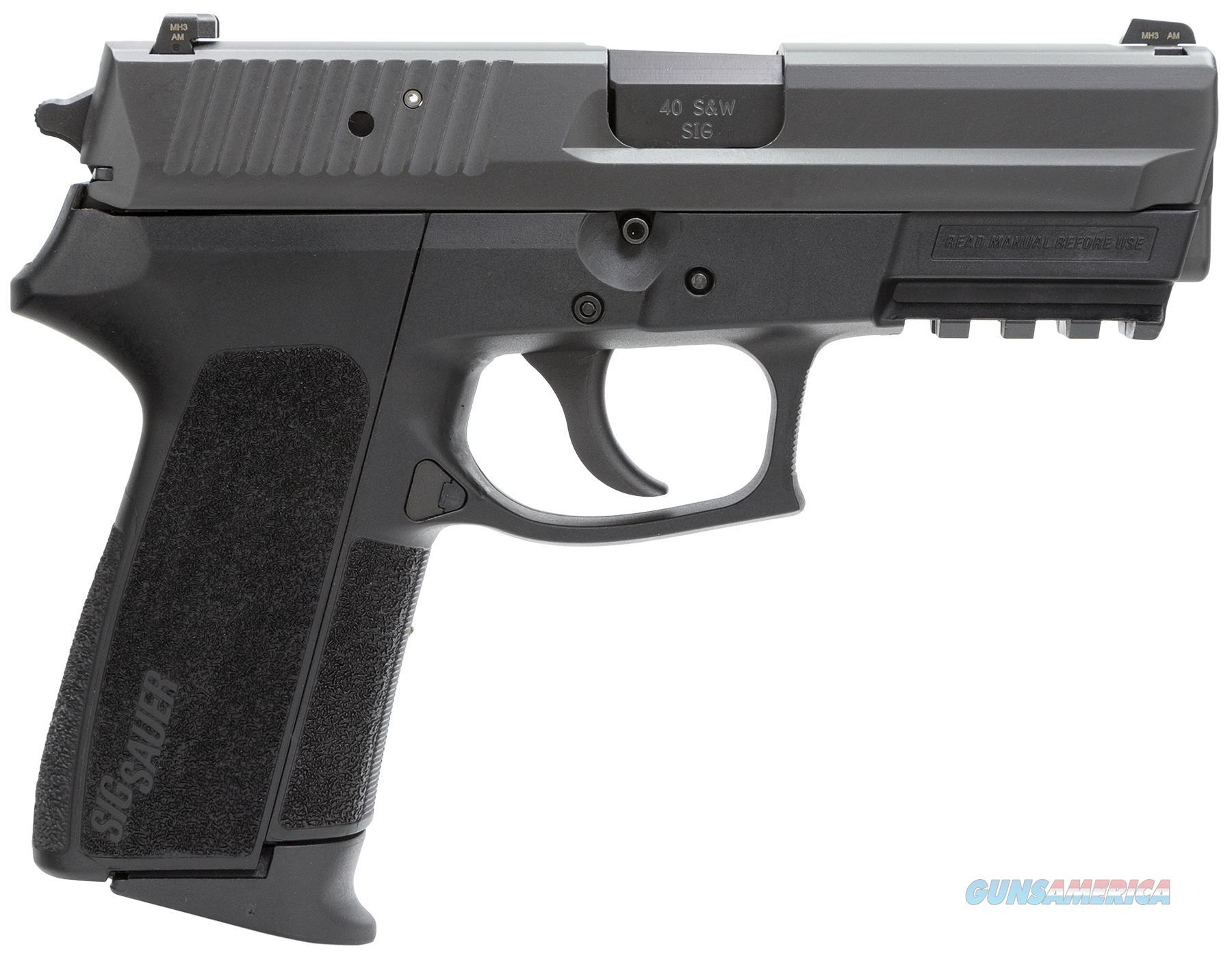 """Sig Sauer Sp202240bssc Sp2022 Full Size *Ca Compliant* Single/Double 40 Smith & Wesson (S&W) 3.9"""" 10+1 Black Polymer Grip Black Nitron Stainless Steel SP2022-40-BSS-CA  Guns > Pistols > S Misc Pistols"""