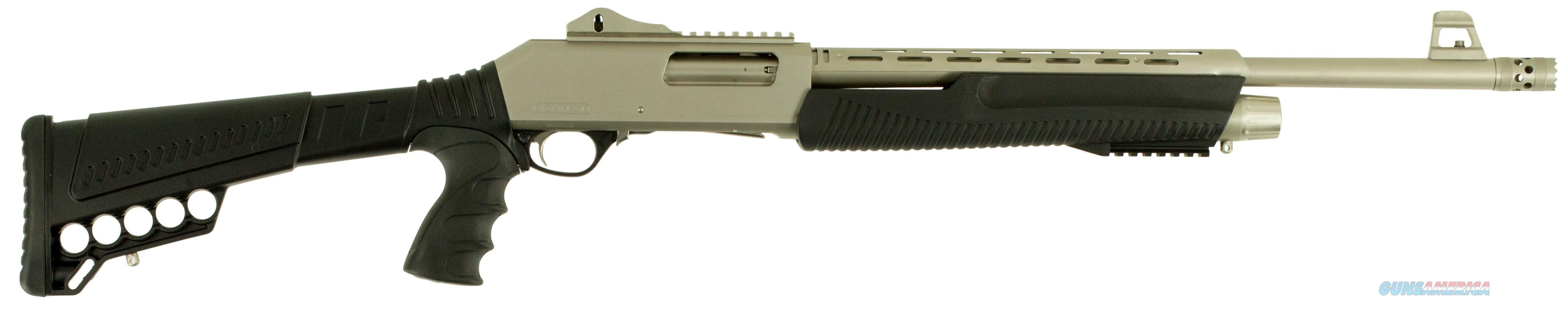 "Dickinson Xx3dm2 Defense Pump 12 Gauge 20"" 3"" 5+1 Synthetic Adjustable W/Pistol Grip Black Silver Marinecote XX3DM2  Guns > Shotguns > D Misc Shotguns"