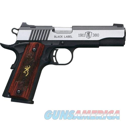 "Browning Black Label Medallion Pro 1911 .380Acp 4.25""Night Sights 51914492  Guns > Pistols > B Misc Pistols"