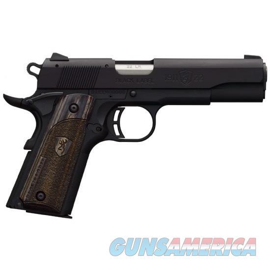 Browning 1911-22 A1 22Lr Blk Label Lam Grip 051814490  Guns > Pistols > B Misc Pistols