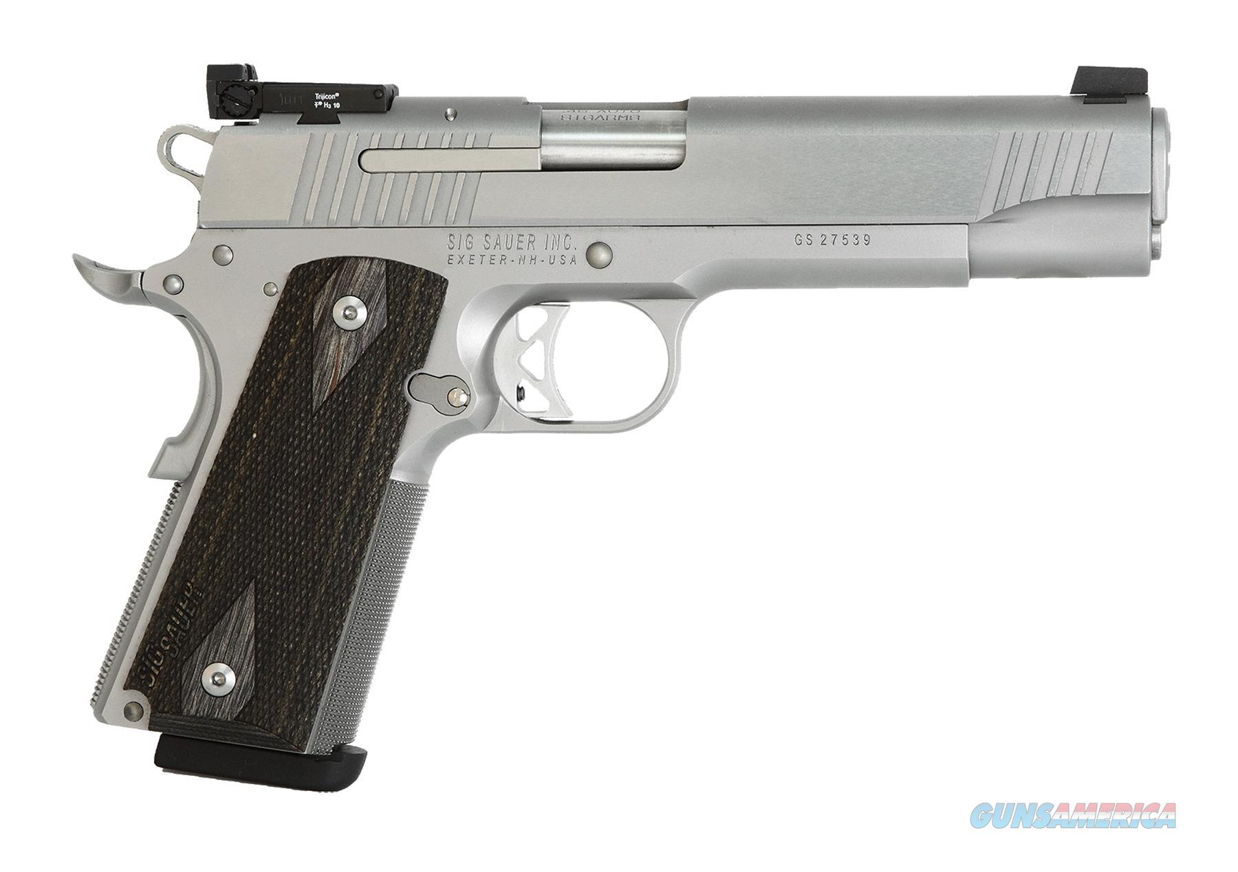 SIG SAUER 1911 TRADITIONAL 9MM SS ADJ TGT HOGUE WOOD 1911T9SME  Guns > Pistols > Sig - Sauer/Sigarms Pistols > 1911