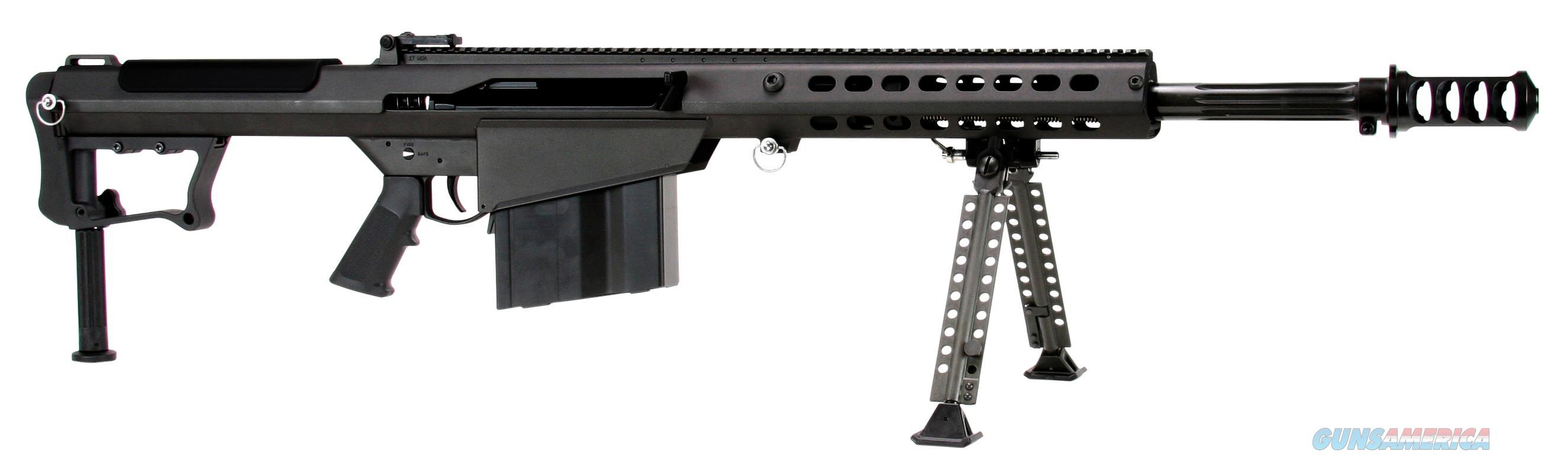 "Barrett 14084 M107 A1 Semi-Automatic 50 Browning Machine Gun (Bmg) 20"" 10+1 Fixed Blk Stk Blk Cerakote 14084  Guns > Rifles > B Misc Rifles"