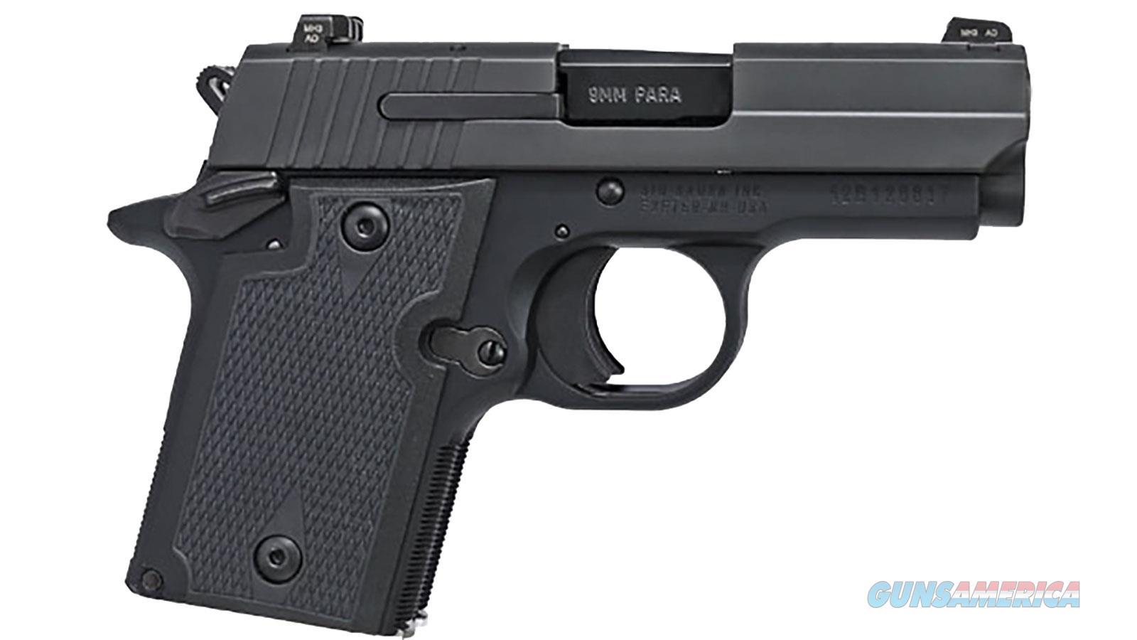 """Sig Sauer P938 9Mm 3"""" 6Rd  S/A Blk A 938-9-BSS-AMBI  Guns > Pistols > S Misc Pistols"""