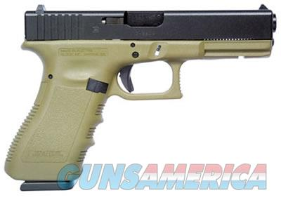 GLOCK 17 + 1 ROUND DOUBLE ACTION ONLY 9MM W/FIXED SIGHTS & OLIVE DRAB FINISH PI1757203  Guns > Pistols > G Misc Pistols