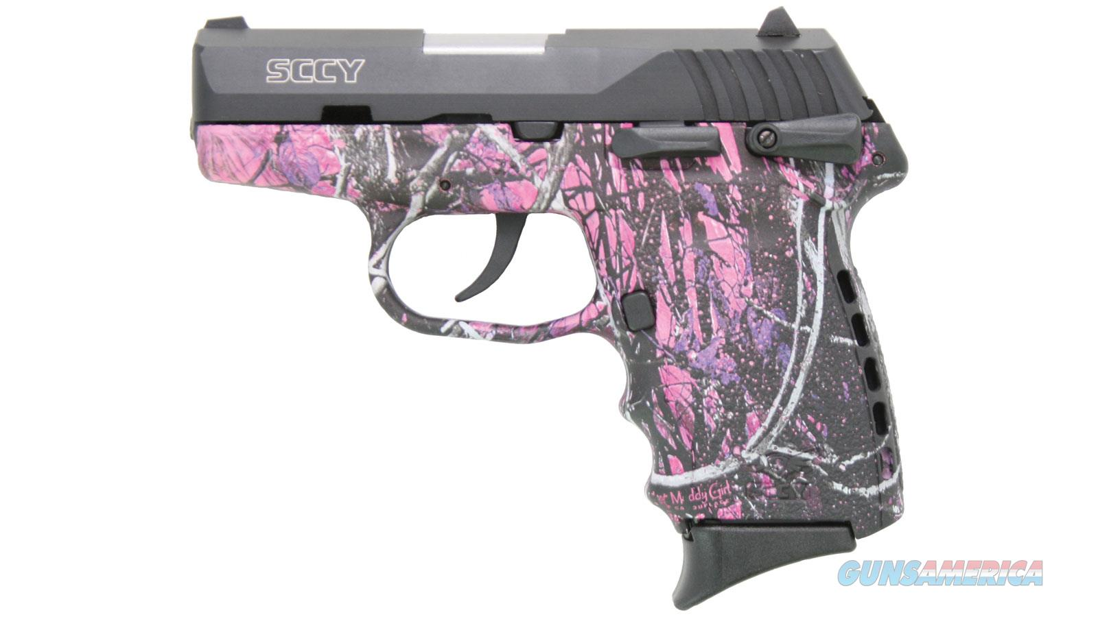 Sccy Industries Semi Auto Pistol 9Mm Black Nitride 2-10Rnd Mag Double Sided Safety Muddy Girl Grip CPX1-CBMG  Guns > Pistols > S Misc Pistols