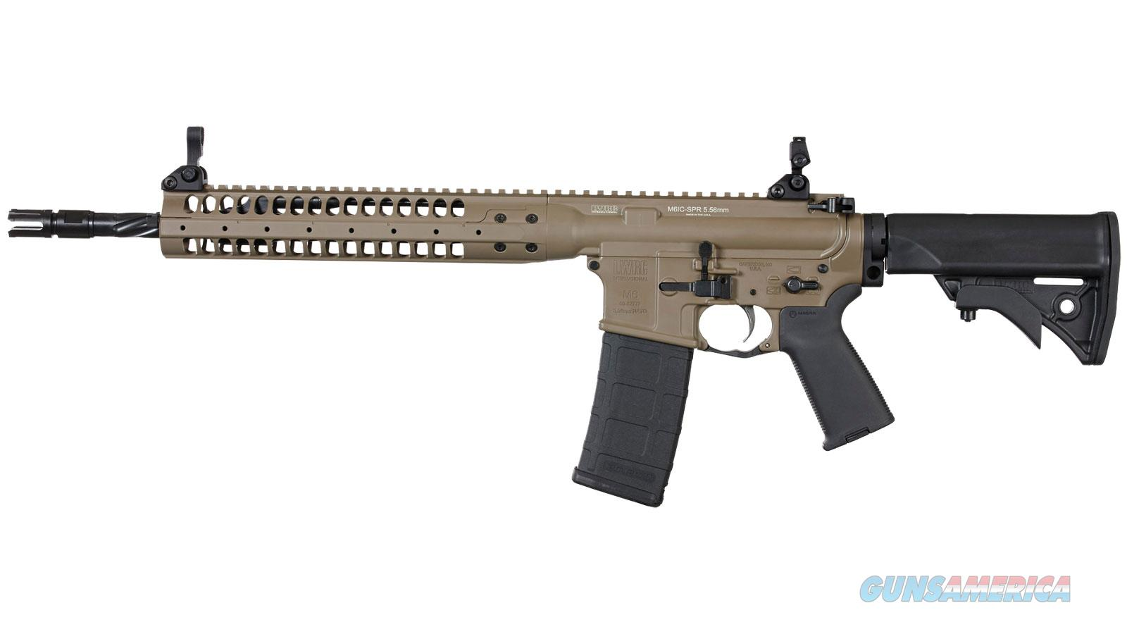 "Lwrc Icr5ck16spr Individual Carbine Spr Semi-Automatic 223 Remington/5.56 Nato 16.1"" 30+1 Adjustable Black Stk Flat Dark Earth Cerakote ICR5CK16SPR  Guns > Rifles > L Misc Rifles"