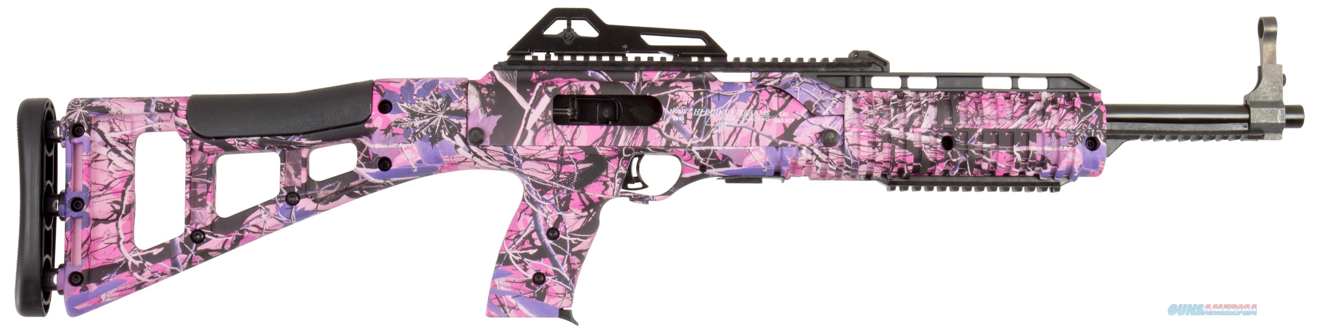 "Hi-Point 3895Tspi 3895Ts Carbine  Semi-Automatic 380 Automatic Colt Pistol (Acp) 16.5"" 10+1 Polymer Skeleton Country Girl Camo Stk Country Girl Camo 3895TS PI  Guns > Rifles > H Misc Rifles"