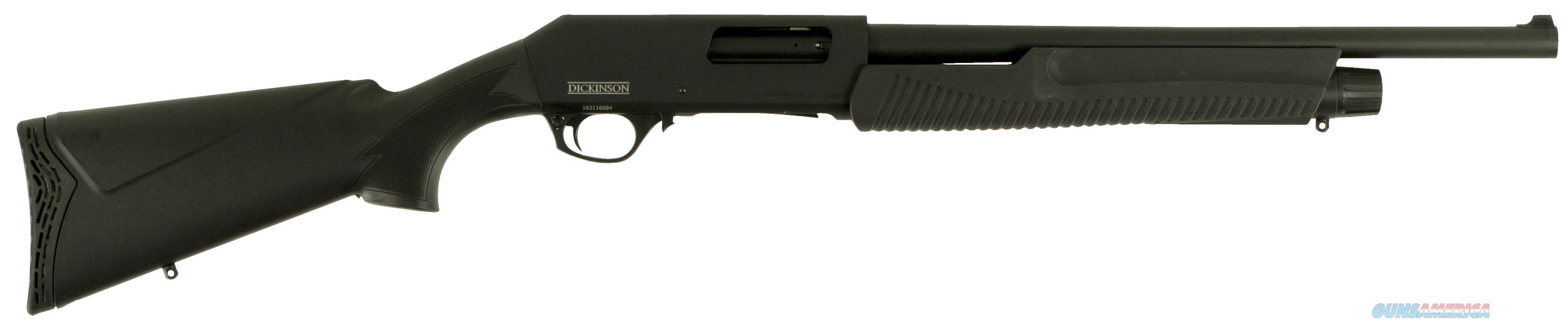 "Dickinson Xx3b2 Defense Pump 12 Gauge 18.5"" 3"" 5+1 Synthetic Black XX3B2  Guns > Shotguns > D Misc Shotguns"