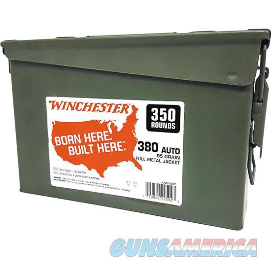 Winchester Ammo 380Acp 95Gr Fmj 350Rd Can WW380C  Guns > Rifles > W Misc Rifles