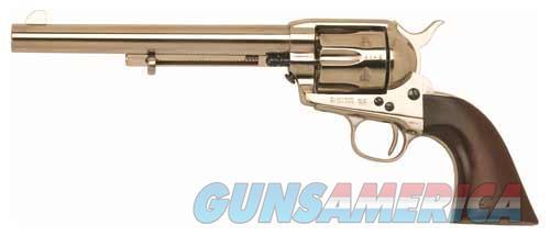 "Cimarron Firearms Cavalry Scout .45Lc Fs 7.5"" Polished Nickel/Walnut CA514N00M00  Guns > Pistols > C Misc Pistols"