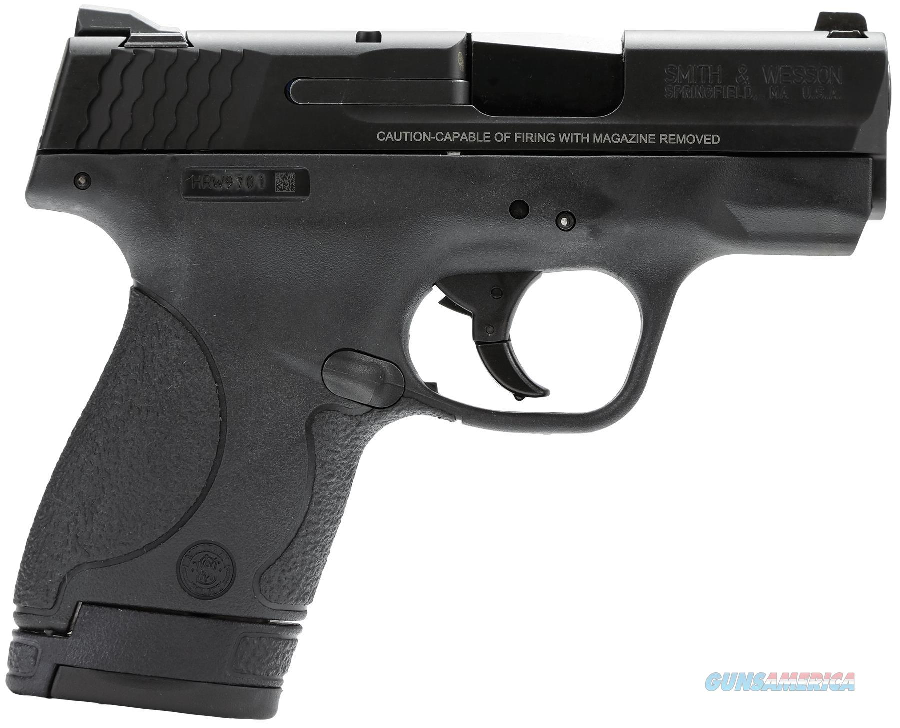 """Smith & Wesson 180020 M&P 40 Shield Double 40 Smith & Wesson (S&W) 3.1"""" 6+1/7+1 3-Dot Mts Black Polymer Grip/Frame Black Armornite Stainless Steel 180020  Guns > Pistols > S Misc Pistols"""