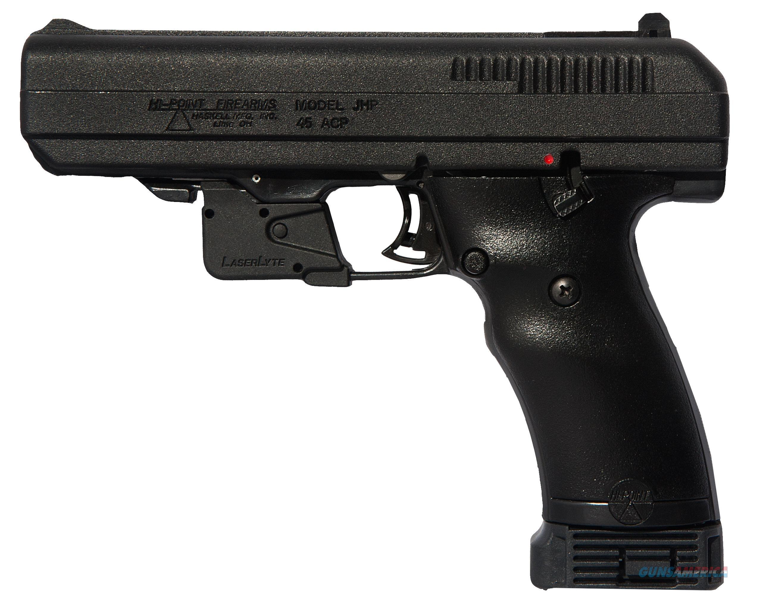"Hi-Point 34510Lltgm 45 Acp With Laserlyte Single 45 Acp 4.5"" 9+1  Grip Black 34510LLTGM  Guns > Pistols > H Misc Pistols"
