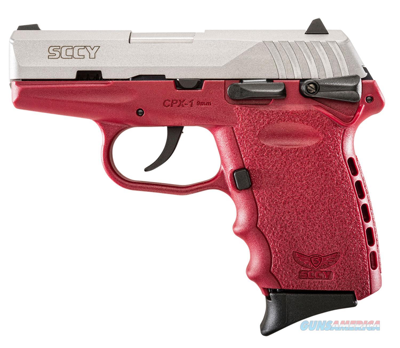 Sccy Industries Cpx1-Tt Pistol Dao 9Mm 10Rd Ss/Crimson Safety CPX1-TTCR  Guns > Pistols > S Misc Pistols