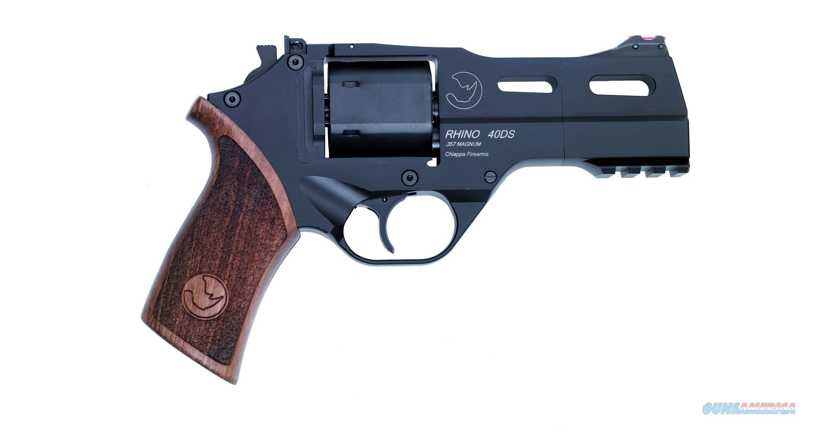 """Chiappa Firearmsmks Rhino 40 Sar Blk 357Mag 4"""" CF340.244  Guns > Pistols > C Misc Pistols"""