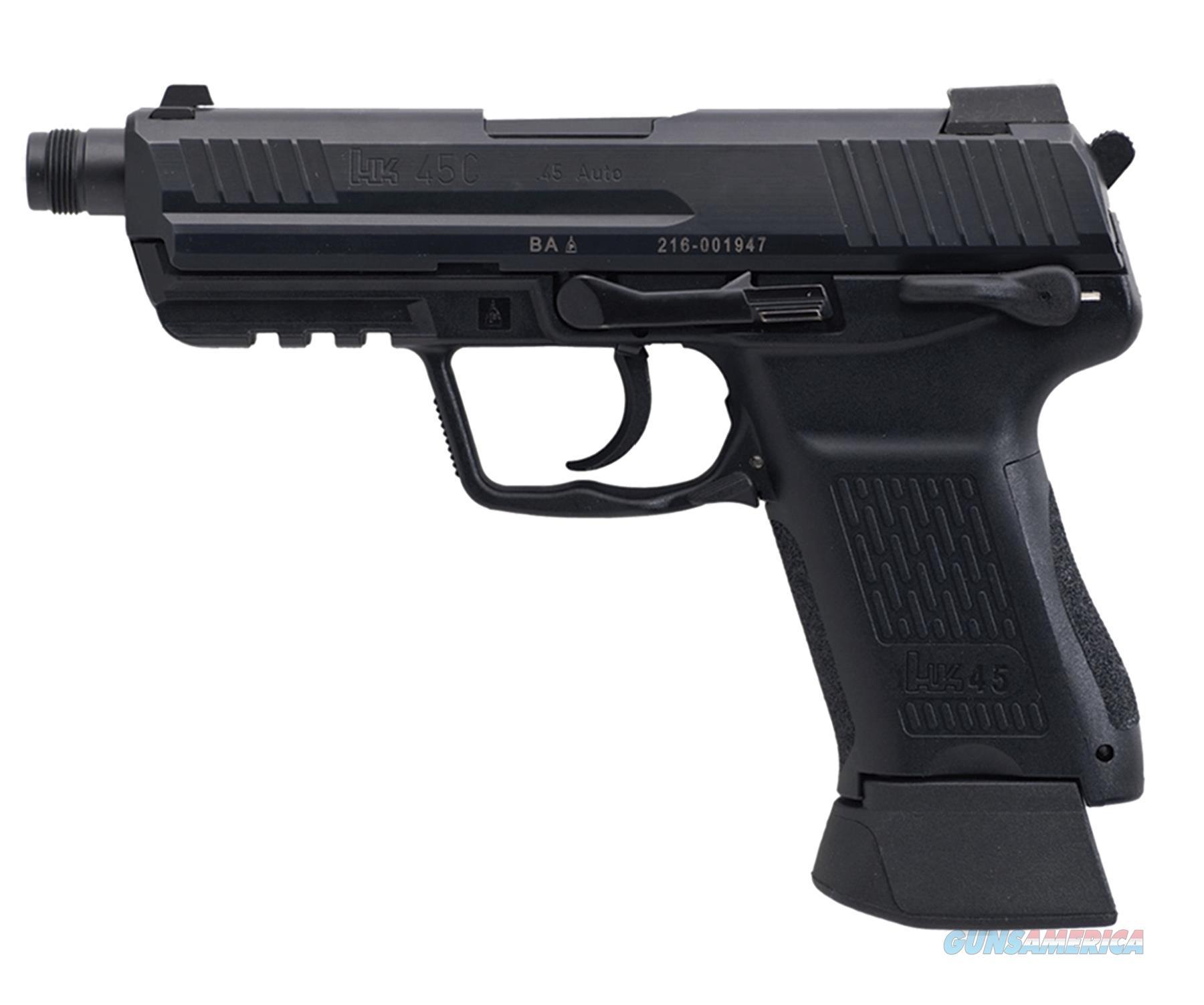 "Heckler & Koch 745037Ta5 Heckler & Koch45ct Comp Tactical V7 Double Lem 45 Acp Nms 4.57"" 10+1 3Dot Ns Blk Syn Grip Blk 745037TA5  Guns > Pistols > H Misc Pistols"