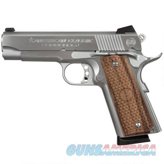 "American Classic Acc9c 1911 Classic Commander Sa 9Mm Luger 4.25"" 9+1 Hardwood W/Mac Logo Grip Hard Chrome ACC9C  Guns > Pistols > IJ Misc Pistols"