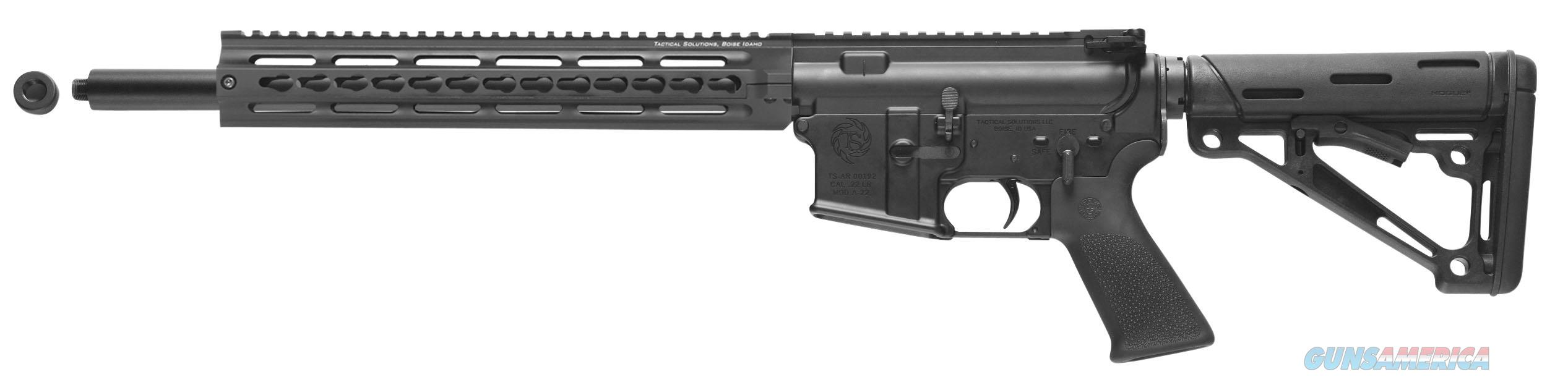 "Tactical Solutions Arcltk Ar-Lt Complete Semi-Automatic 22 Long Rifle 16.5"" 25+1 Collapsible Black Stk Black ARCLTK  Guns > Rifles > TU Misc Rifles"