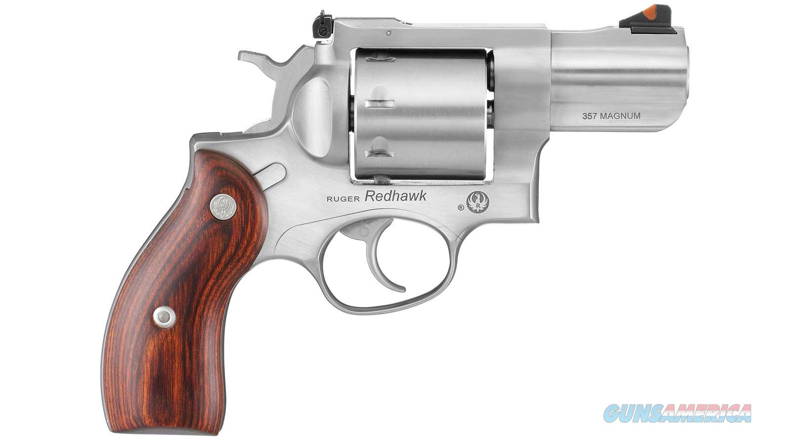 RUGER REDHAWK 357MAG 2.75 SS AS HARDWOOD GRIP 8RD 5033  Guns > Pistols > R Misc Pistols